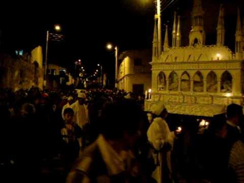 Procesión de Viernes Santo en Mira Carchi Ecuador 2 abril 2010