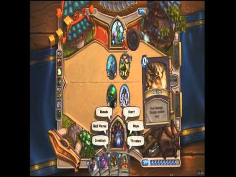 HearthStone Heroes of Warcraft Gameplay - New Free to Play Trading Card Game from Blizzard