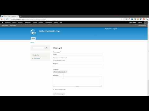 Adding a Contact Form to a Drupal 7 Site - Daily Dose of Drupal Episode 10