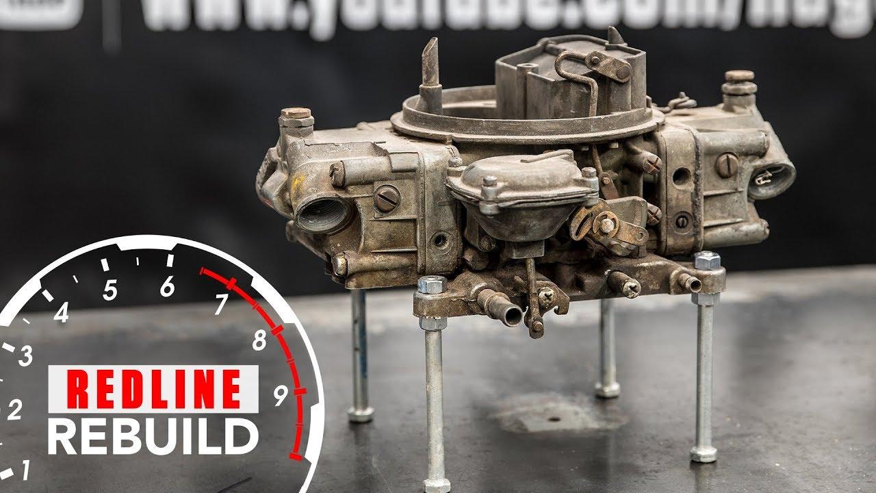 Holley carburetor rebuild time lapse