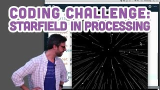 Coding Challenge #1: Starfield in Processing