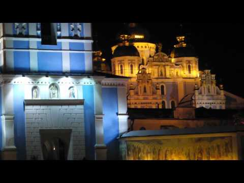 Bells ringing in St. Sophia's Cathedral, Kiev, Ukraine