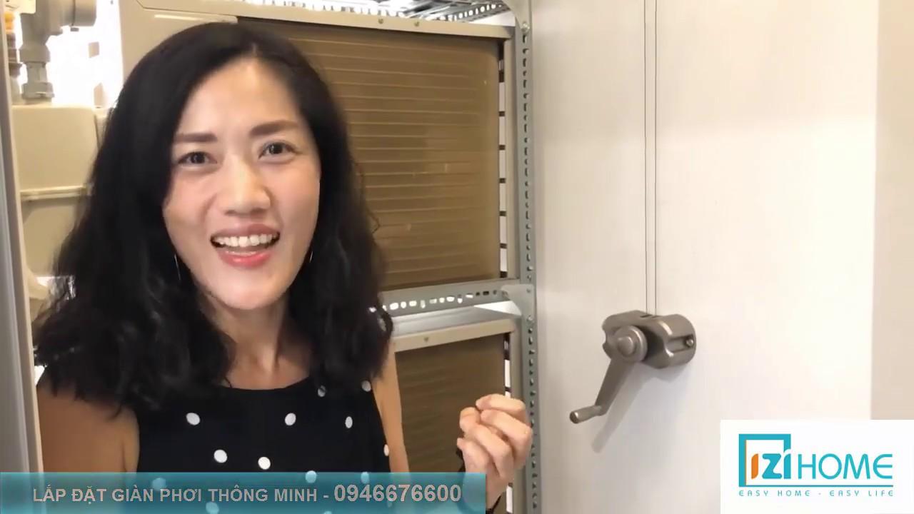 Khách Hàn Quốc cảm nhận về bộ giàn phơi cao cấp của IZI Home