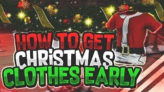 NBA2K18 NEW CHRISTMAS CLOTHES EARLY 🎅🏿🔥 GO GET IT NOW!!!!! THEY FREE