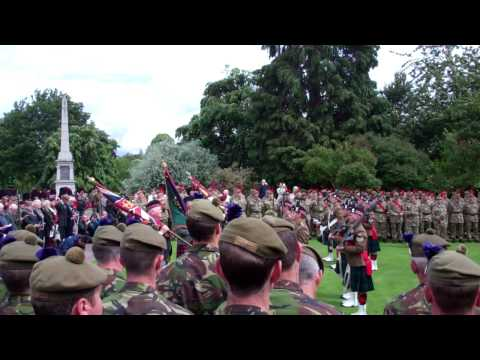 Handing Over The Black Watch Colours Outdoor Service Perth Perthshire Scotland June 23rd