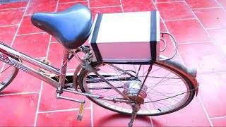 How to Make Electric Bike from Old Bike at Home width=