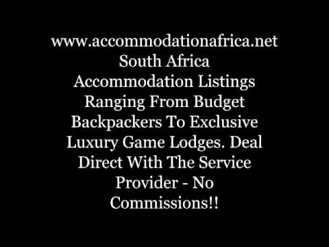 South Africa luxury and budget accommodation; adventure in South Africa