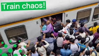 CRAZY STAMPEDE AT INDIAN TRAIN STATION