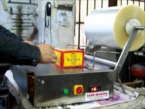 zarf tipi jelatin kaplama makinası paketleme  çay şeker sabun kozmetık parfüm kutu box manuel