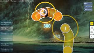 S RANK ~ Osu! - Big Giant Circles feat  some1namedjeff   Thunderstruck Gladi's Normal S Rank 96 33%