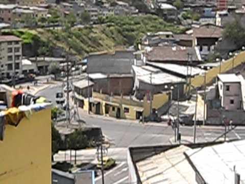 Quito hillside slum