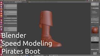 Blender Speed Modeling Pirates Boot