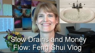 Slow draining bathroom sink and my money flow: Feng Shui Vlog
