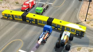 ARTICULATED BUS CRASHES #1 - BeamNG Drive | CRASHdriven