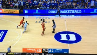 zion williamson dunk duke vs clemson