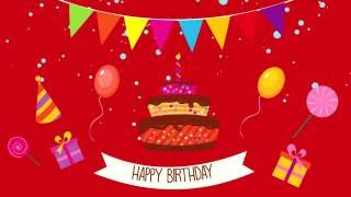 Motion Graphics for Happy Birthday (After Effect)