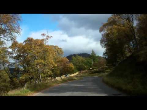 Autumn Drive Braemar Aberdeenshire Scotland