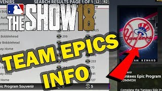 TEAM EPICS INFO | MLB 18 DIAMOND DYNASTY
