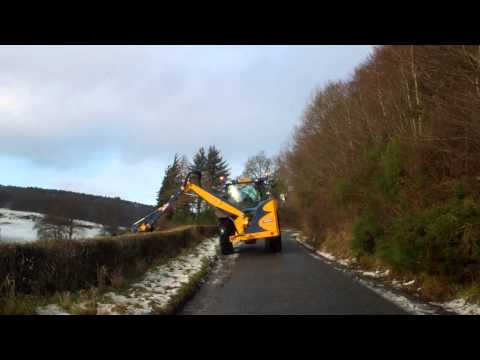 Hedge Cutter On The Road Kinnoull By Perth Perthshire Scotland