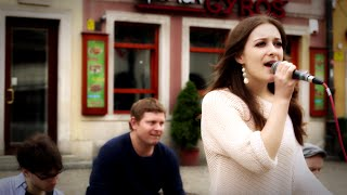 'Don't stop the music' Rihanna Cover - Rosalie Chatwin Band street performance