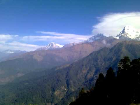 Nepal Bergrundblick Annapurna