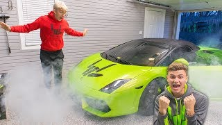 LAMBORGHINI PRANK ON BROTHER!! (GONE WRONG) width=