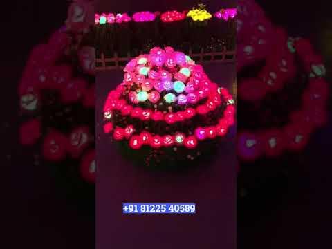 LED Rose Flower wedding Decoration +91 81225 40589