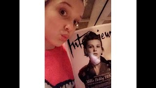 """Millie Bobby Brown reacting to her first """"Interview"""" cover"""