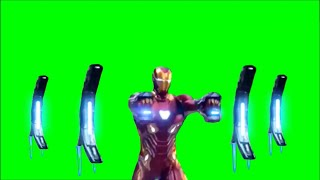Green Screen Iron Man suit up 7 / Iron Man Infinity War Suit with Nano Weapons