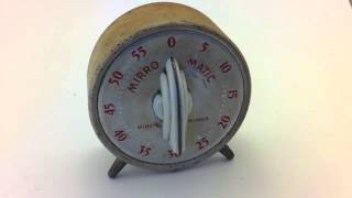 Vintage mirro matic minute minder windup timer