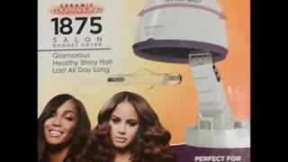 Red by Kiss Professional Salon 1875 Watt Bonnet Hood Hair Dryer