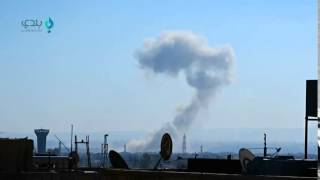 غارة جوية على حي جوبر الدمشقي 8- 12- 2015