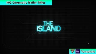 Free After Effects Intro Template #65 : Cinematic Trailer Titles for After Effects