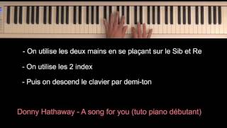 Donny Hathaway - A song for you (intro piano tutoriel)