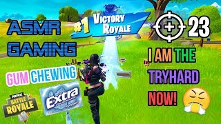 😤 ASMR Gaming | Fortnite I Am The Tryhard Now! 23 High Kill Gum Chewing 🎮🎧Controller Sounds😴💤