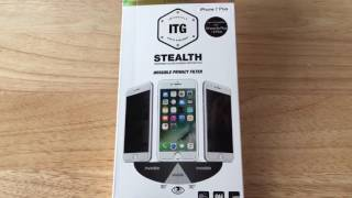 ITG Stealth Privacy iPhone 7 Plus Patchworks Glass Screen Cover 2-25-17