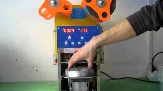 WCS-F08 bubble tea/boba cup sealing machine.avi
