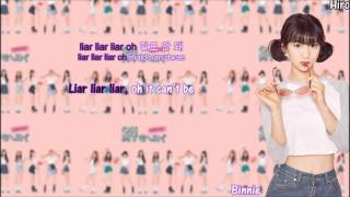 Oh My Girl - Liar Liar {Color Coded Lyrics + Hangul + Rom + Eng Sub}