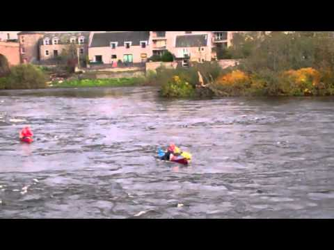 Tay Descent Rescue Boat River Tay Perth Scotland 2011