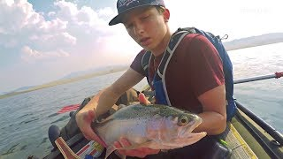 Kayak Fishing for Rainbow Trout with Deeper PRO+