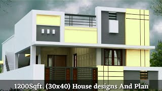 30×40 house plan || 30*40 घर का नक्शा || Front elevation 1200 sqft home designs