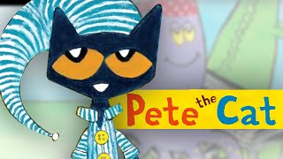 PETE THE CAT & The Bedtime Blues | Book Trailer | Pete's Nightly Routine!