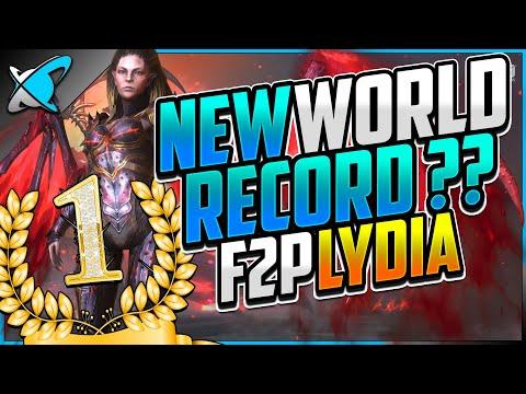 "NEW RECORD!? | Fastest ""FREE TO PLAY"" Lydia The Deathsiren | Mais Showcase | RAID: Shadow Legends"