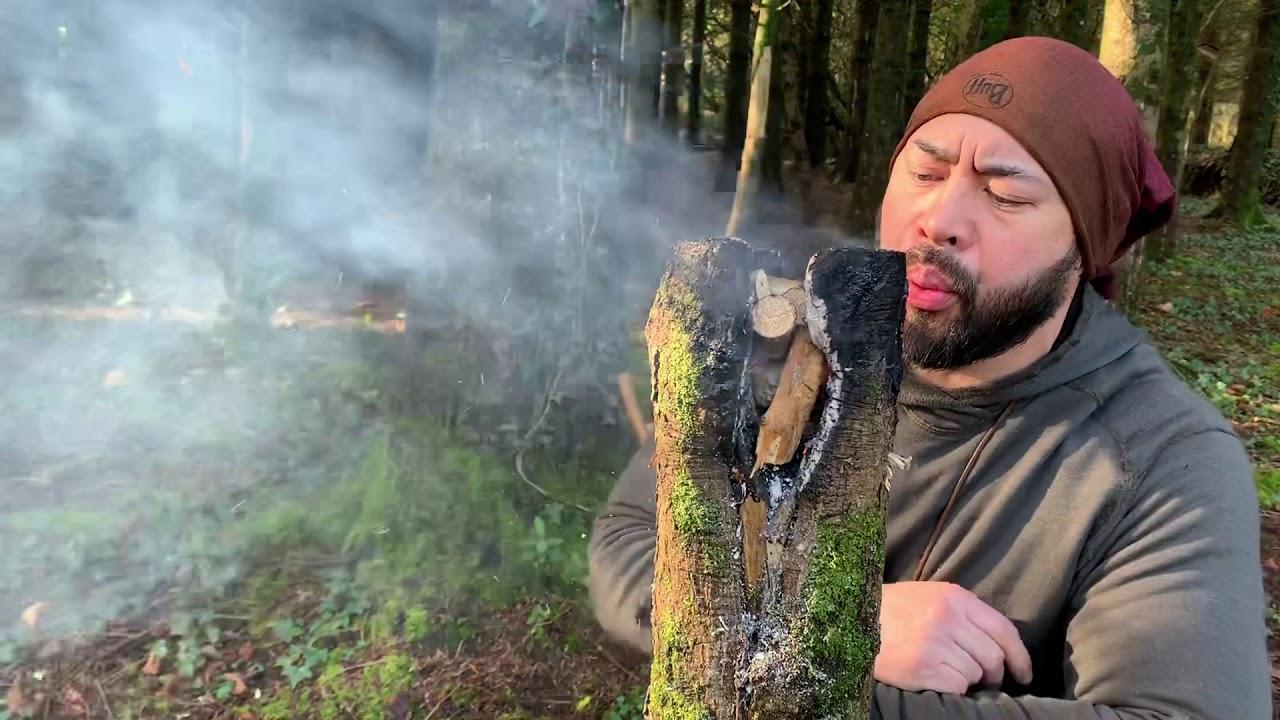 Wild Cooking / Modified Swedish Fire Log/ Irish Bushcraft