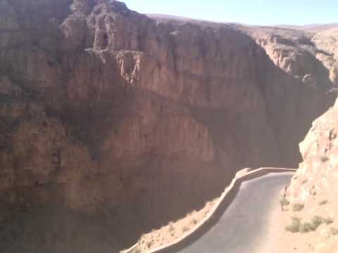Ourtour drive their Hymer B544 motorhome up the Dades Gorge, Morocco