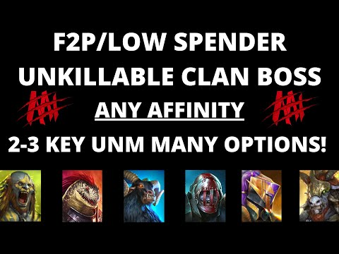 F2P/Low Spender Unkillable UNM Team I Raid Shadow Legends