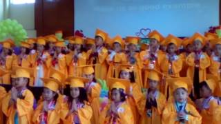 Nica's graduation day.graduation song HERE WE STAND