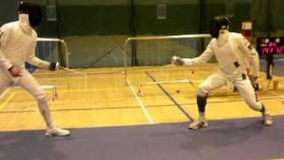 Irish Open 2009 Mens Epee Final Joaquim Cordeiro , POR Michele Bino, ITA Part 5 of 5