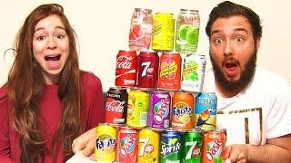 SODA CHALLENGE en COUPLE !! 20 boissons MÉLANGÉES PRANK !