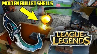 Casting Brass LEAGUE OF LEGENDS DAGGER from BULLET SHELLS and Mirror Polish It ! width=